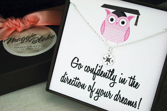 graduation gift for daughter compass necklace